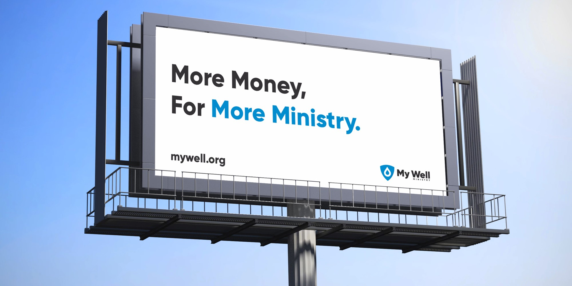 My Well Ministry New Brand Billboard
