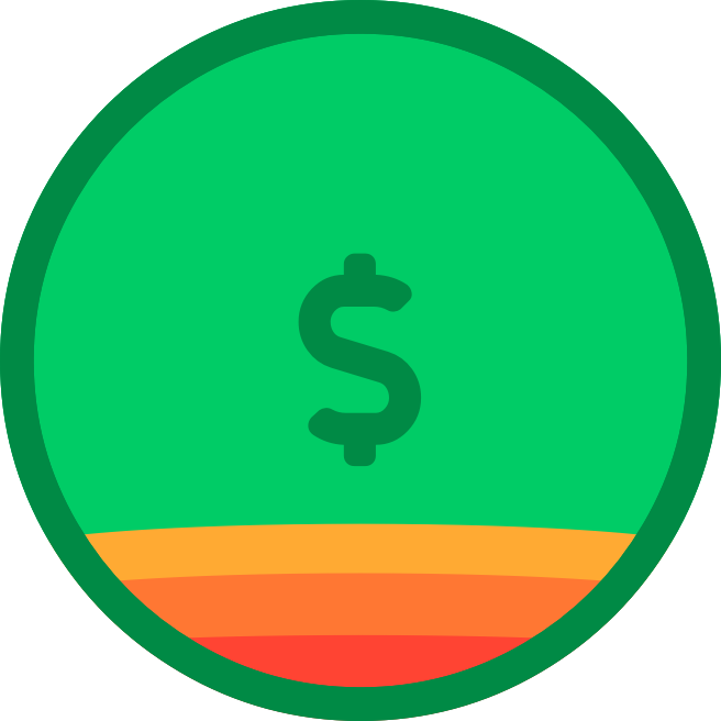 Circle graphic showing the breakdown of fees for a normal gift
