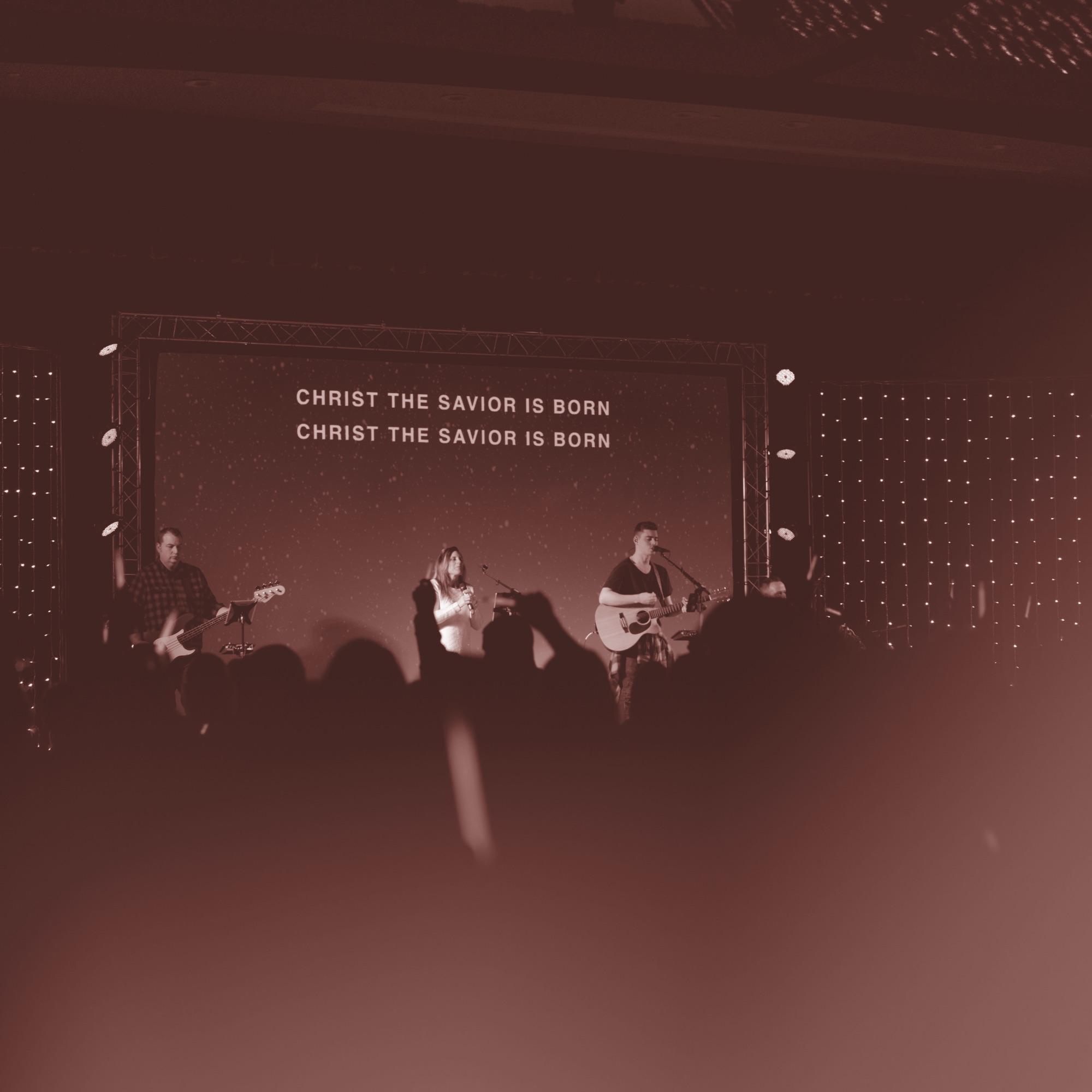 Worship service singing Christ The Savior
