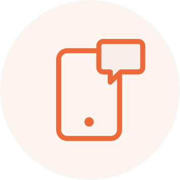 Illustration of a text message on a phone