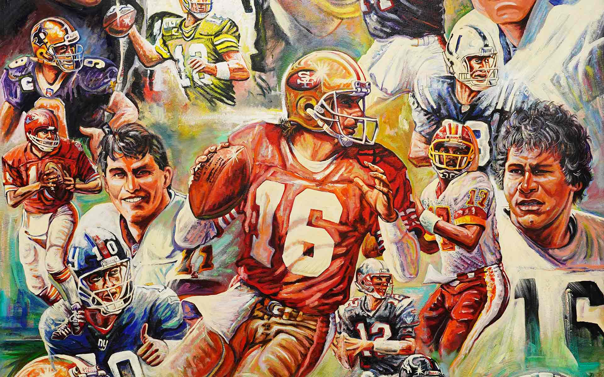 Gene Locklear Super Bowl artwork commissioned by the NFL and shown on television.