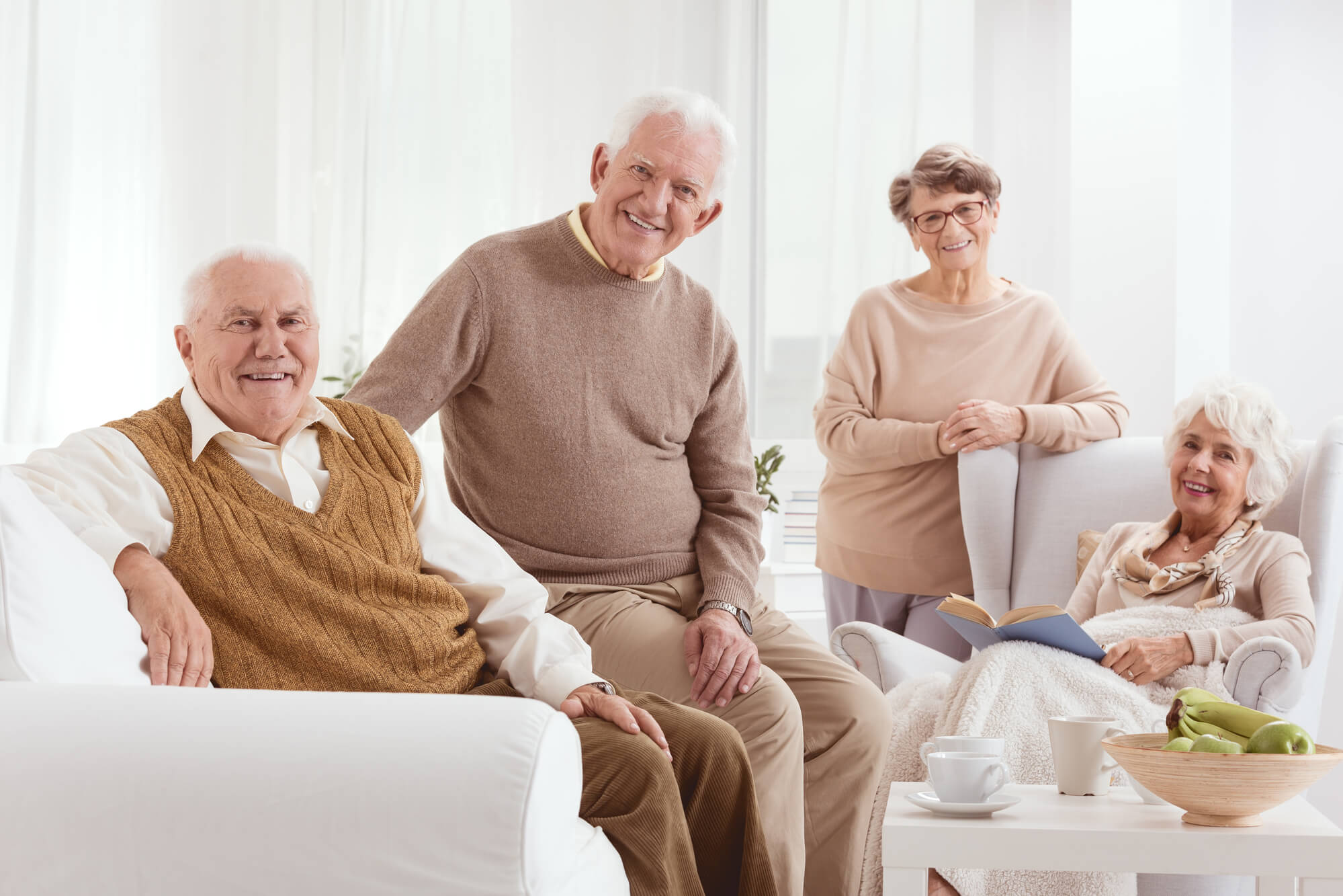 Group of elderly people at a Private Nursing Care New York City