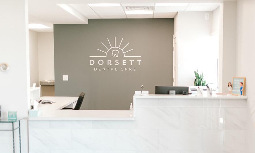 Dorsett Dental Care's patient check-in counter