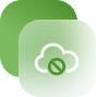 a white and green cloud icon