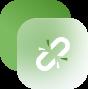 a white link icon
