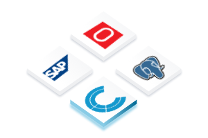 Icons for connectin to SAP, Oracle DBs or Postgres