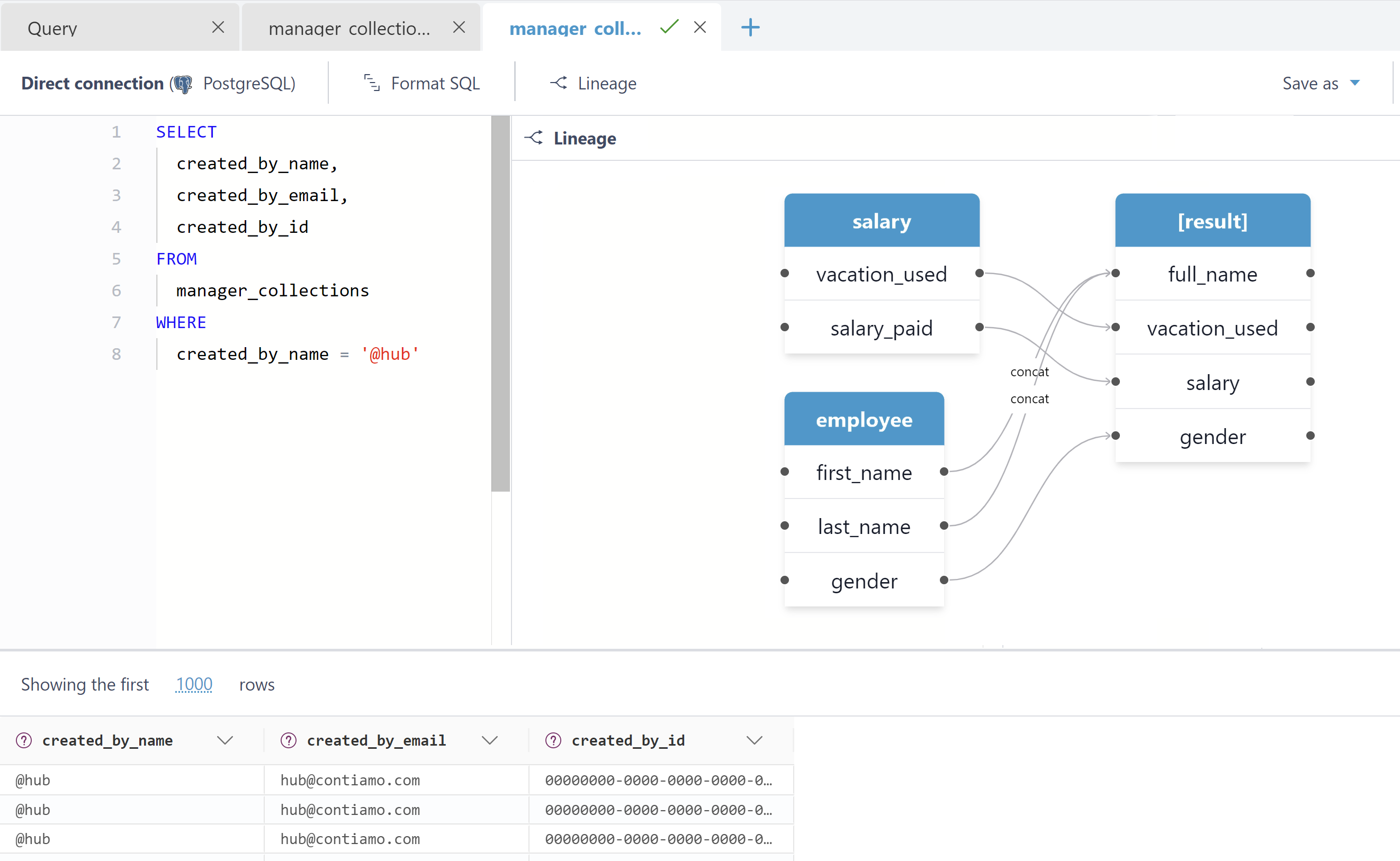 data catalog displaying lineage and relationships between data assets like data sources, pipelines, reports, etc.