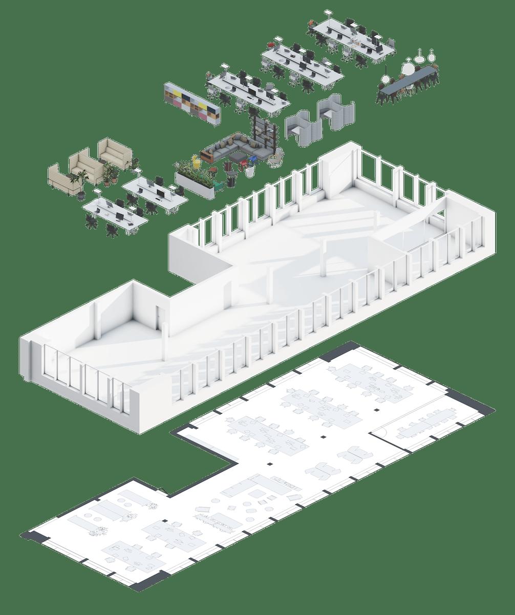 Get a building model illustration