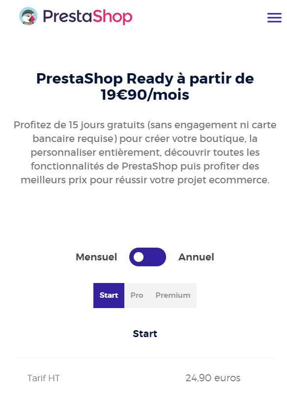 Prestashop price