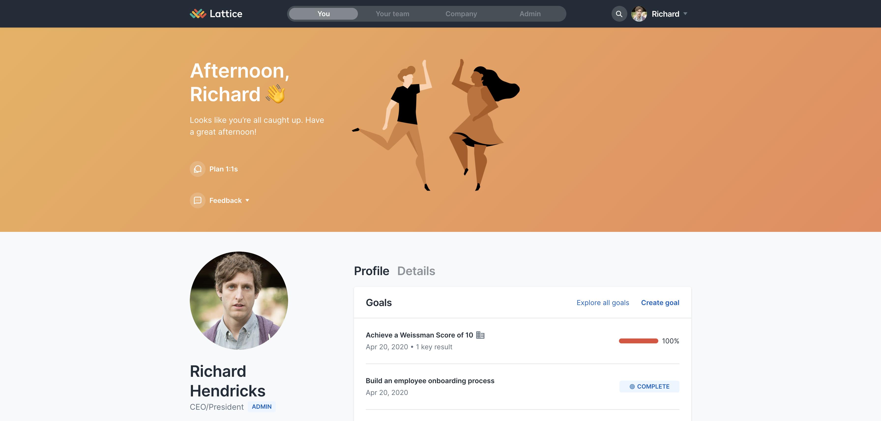 Lattice's original user homepage