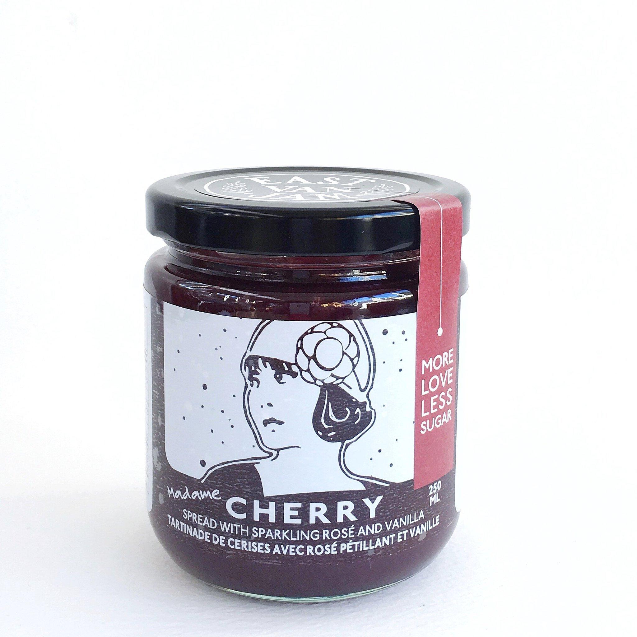 East Van Jam Cherry with Sparkling Rose + Vanilla
