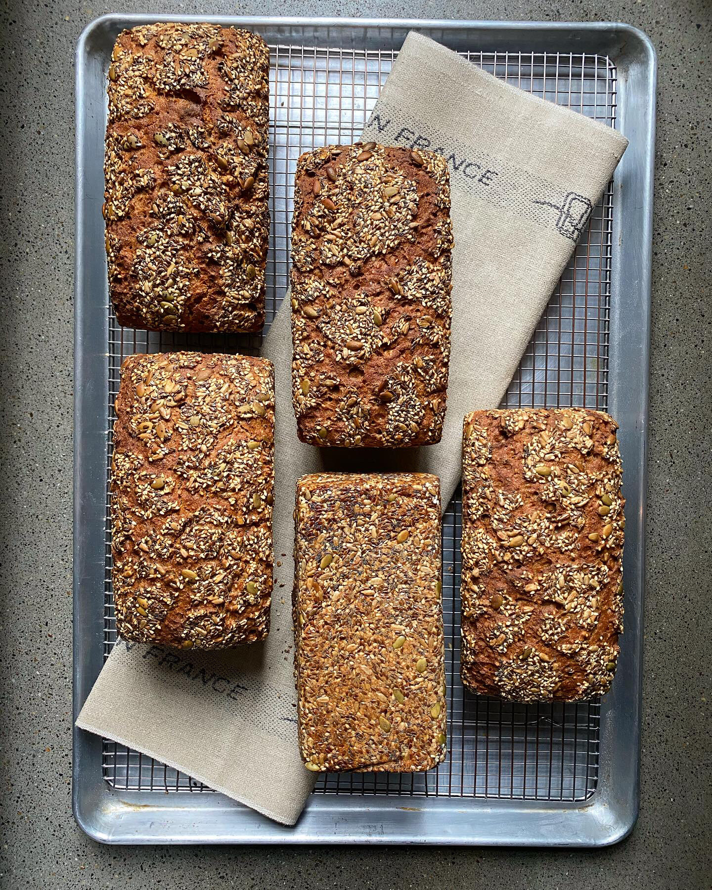 100% Organic Rye Sourdough with Seeds (Only available Saturday + Sunday)