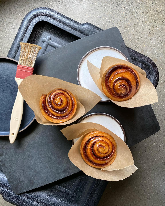 glazed vegan cinnamon rolls