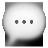 A chat bubble.