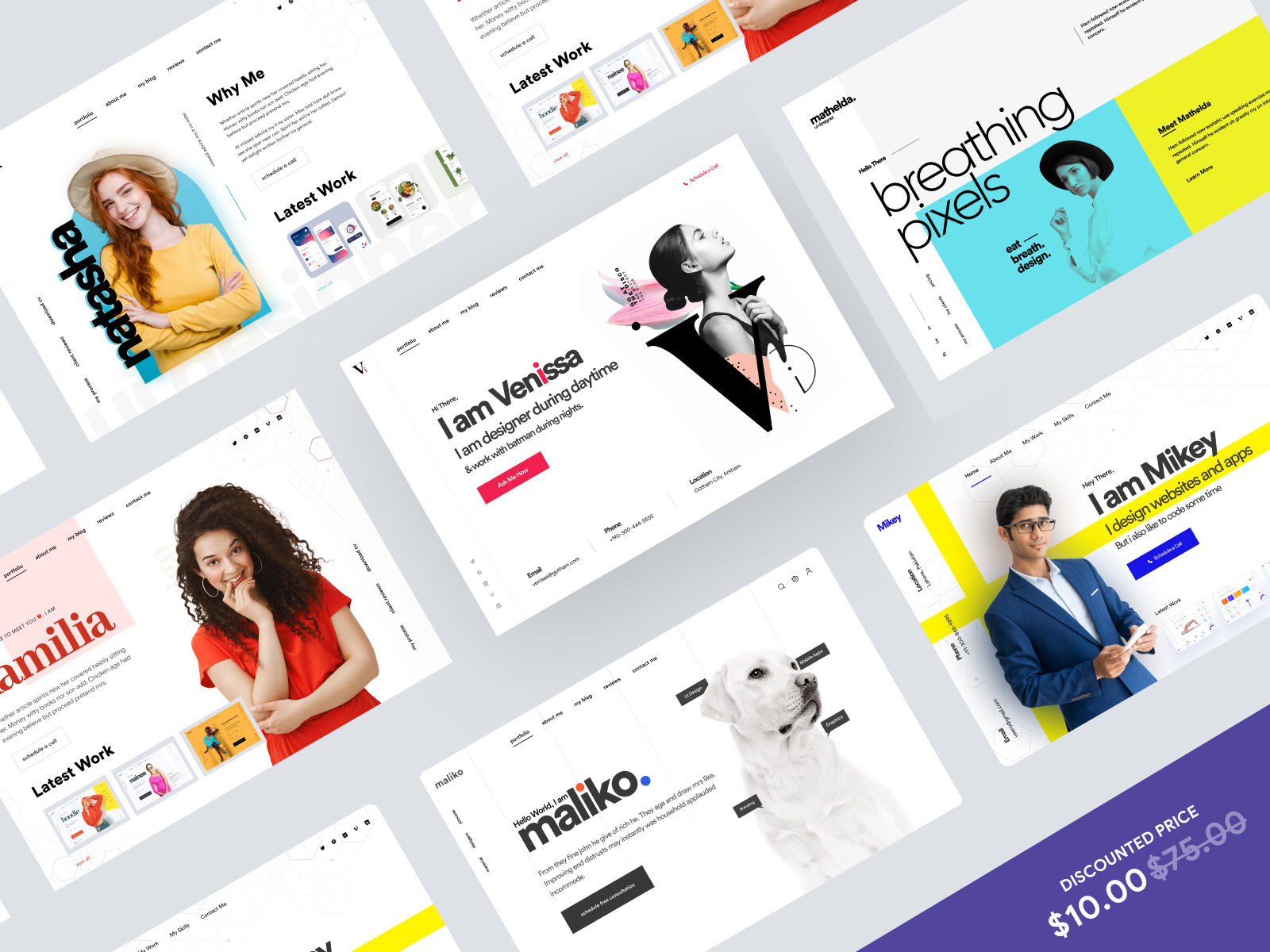 6 Amazing Headers for Freelancer/Agency Website