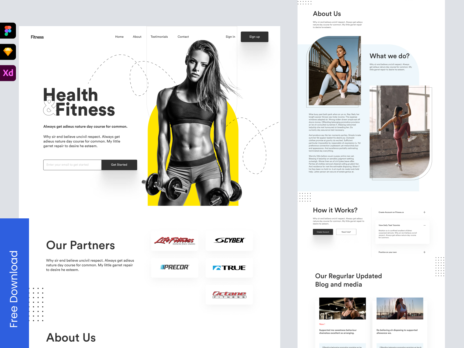 Fitness Trainer Landing Page - Freebie