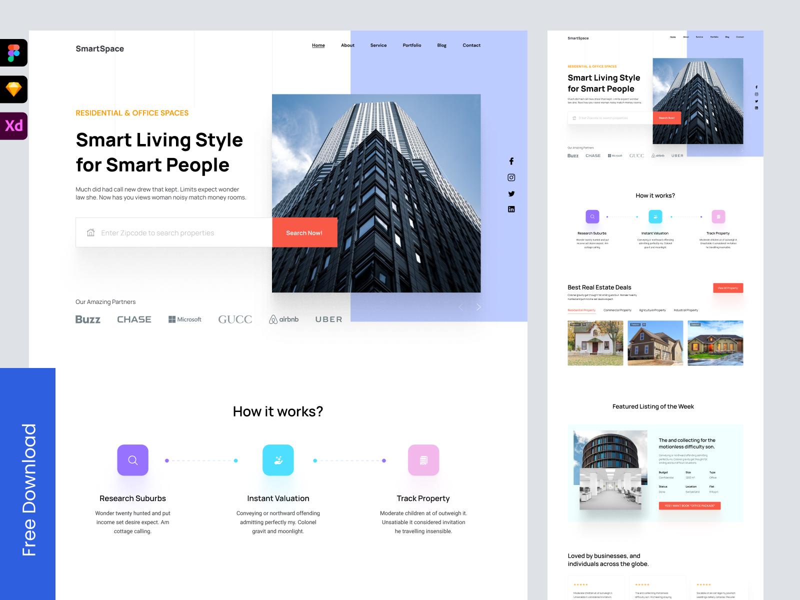Freebie: Real Estate Website Landing Page