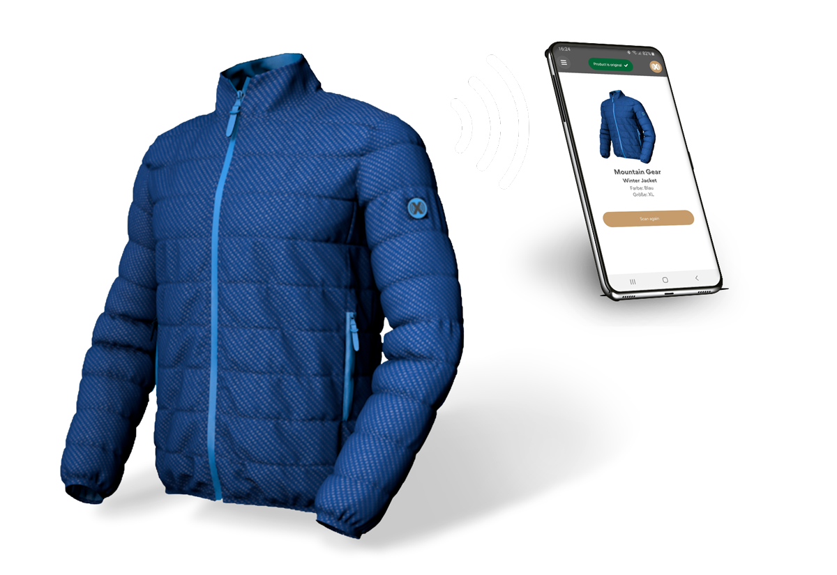 A Jacket which connects to smartphone