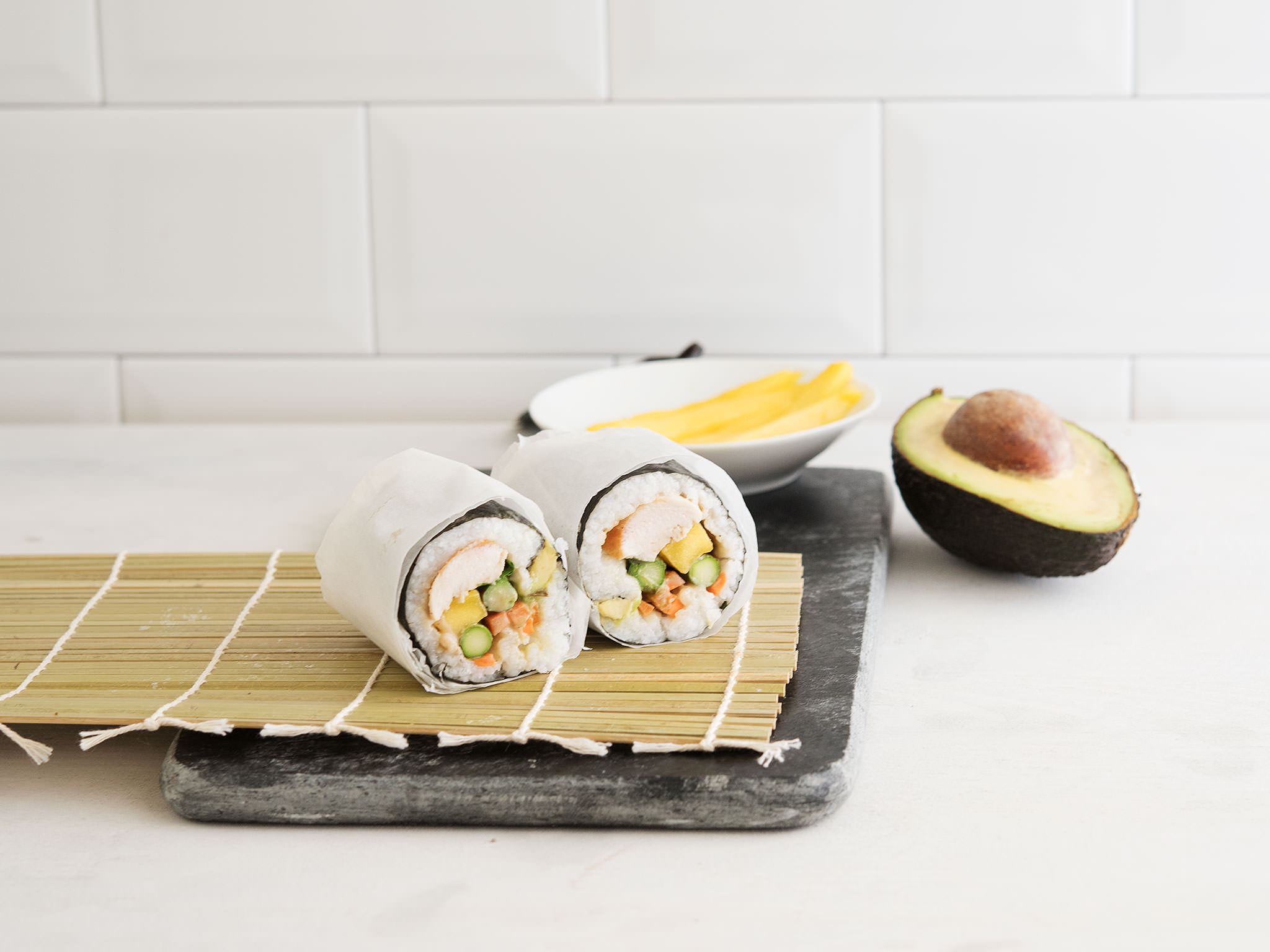 Leckerer Sushi Burrito