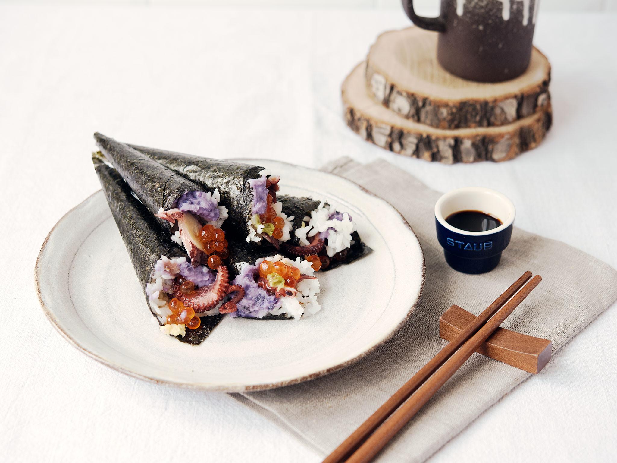 Besonderes Oktopus Sushi