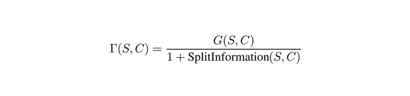 Information gain ratio