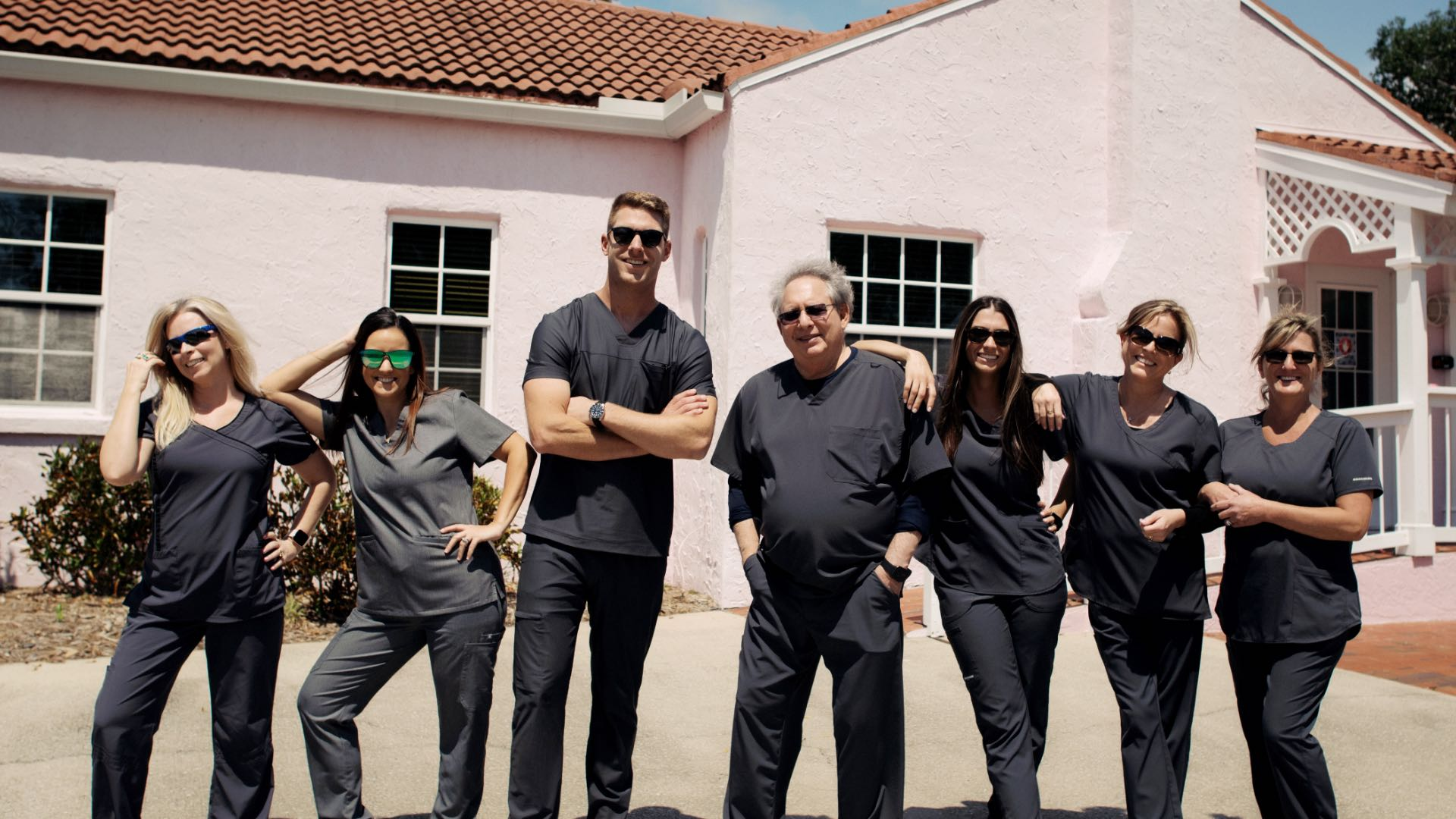 Photo of the Venice Implant Dentistry & Laser team outside