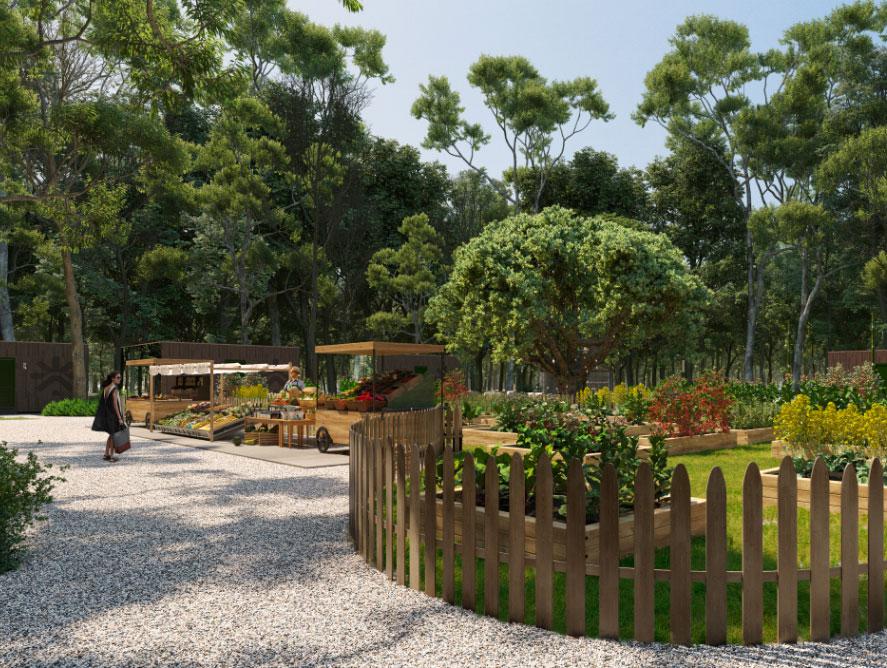 Exterior picture of kibana garden
