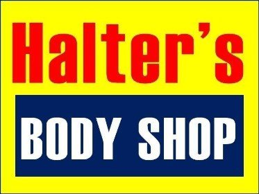 Halter's Body Shop Logo