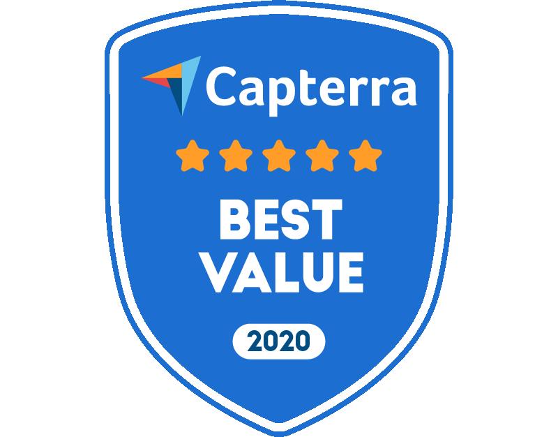 Capterra Best Value Badge