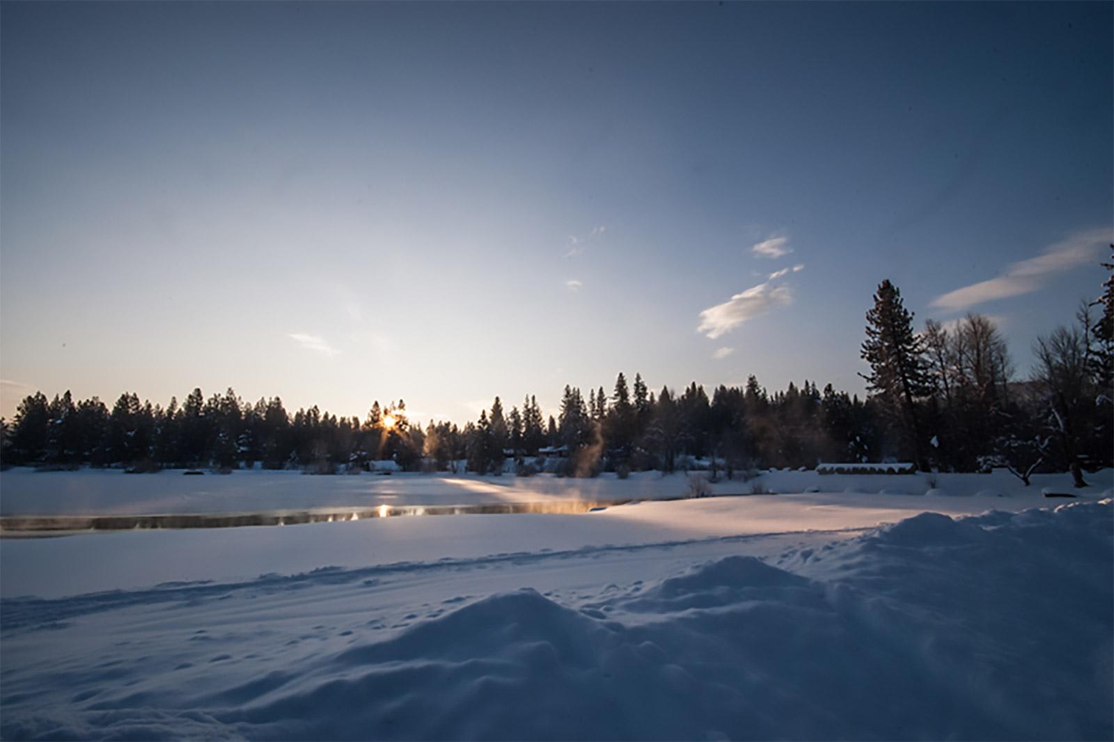 Snow on the Graeagle Mill Pond