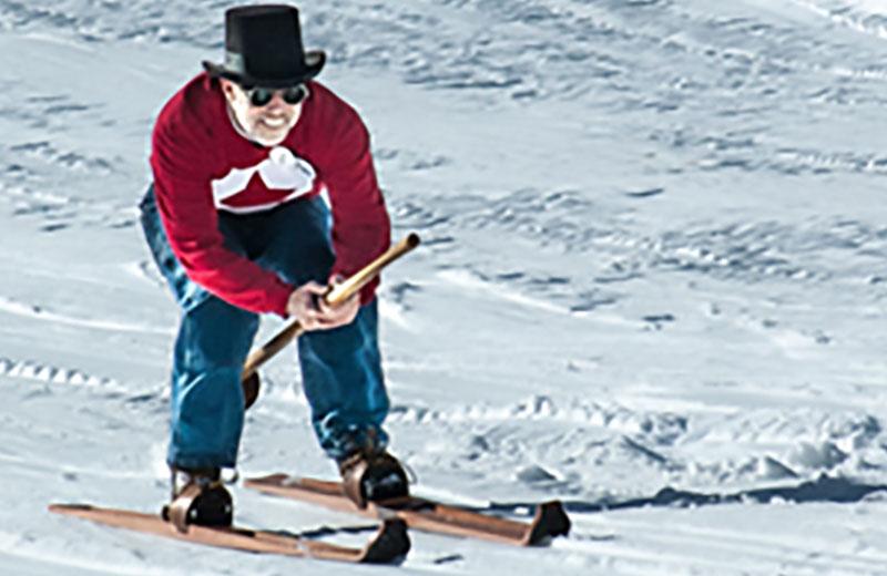 Longboard Skier