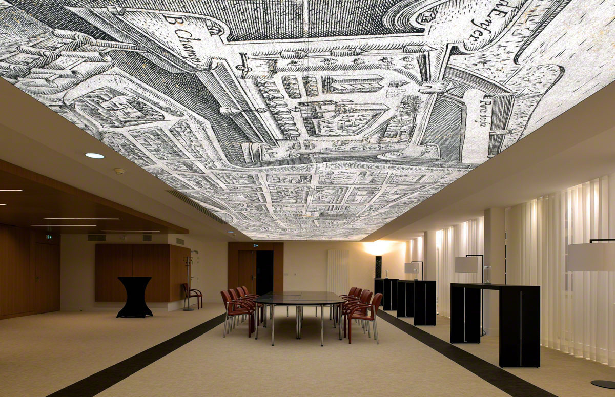 Stretch Fabric Structure - Printed Ceiling