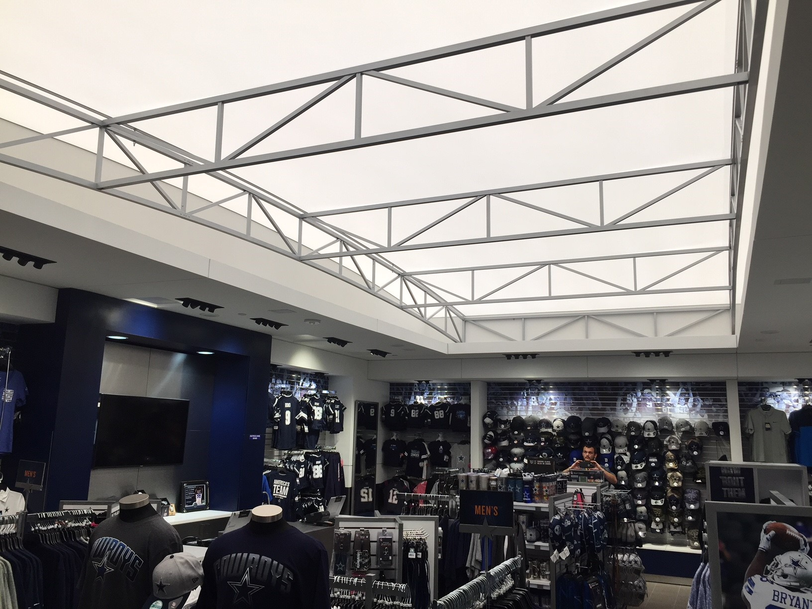 Stretch Fabric Structure - Acoustic Light - Dallas Cowboys