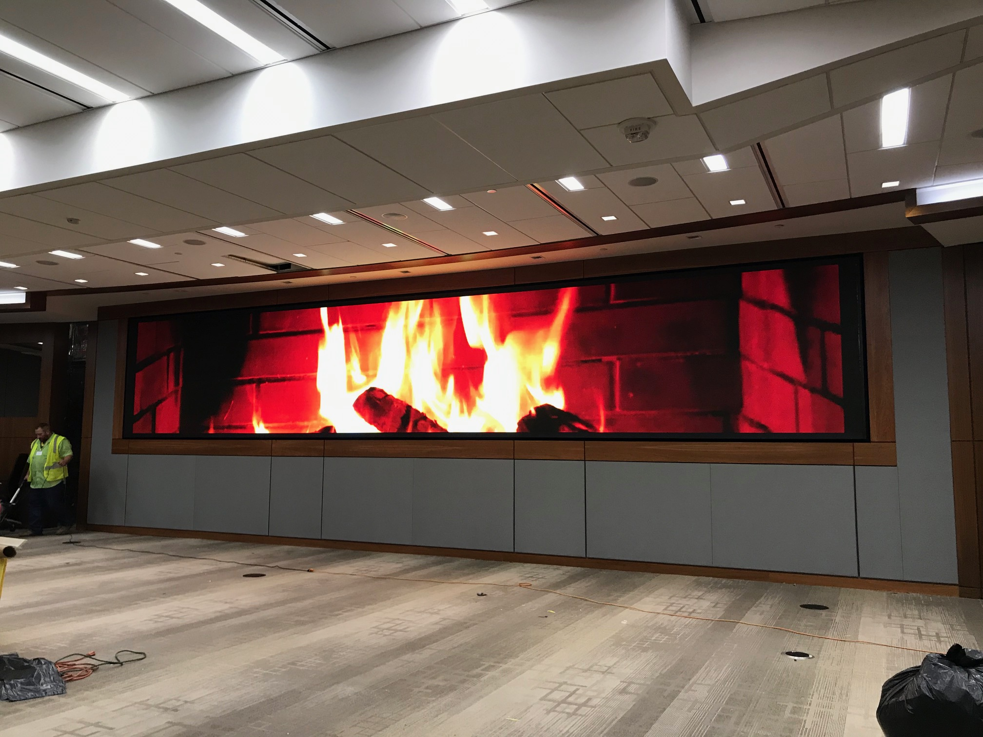 Stretch Fabric Structure - Fireplace - Bell Helicopter
