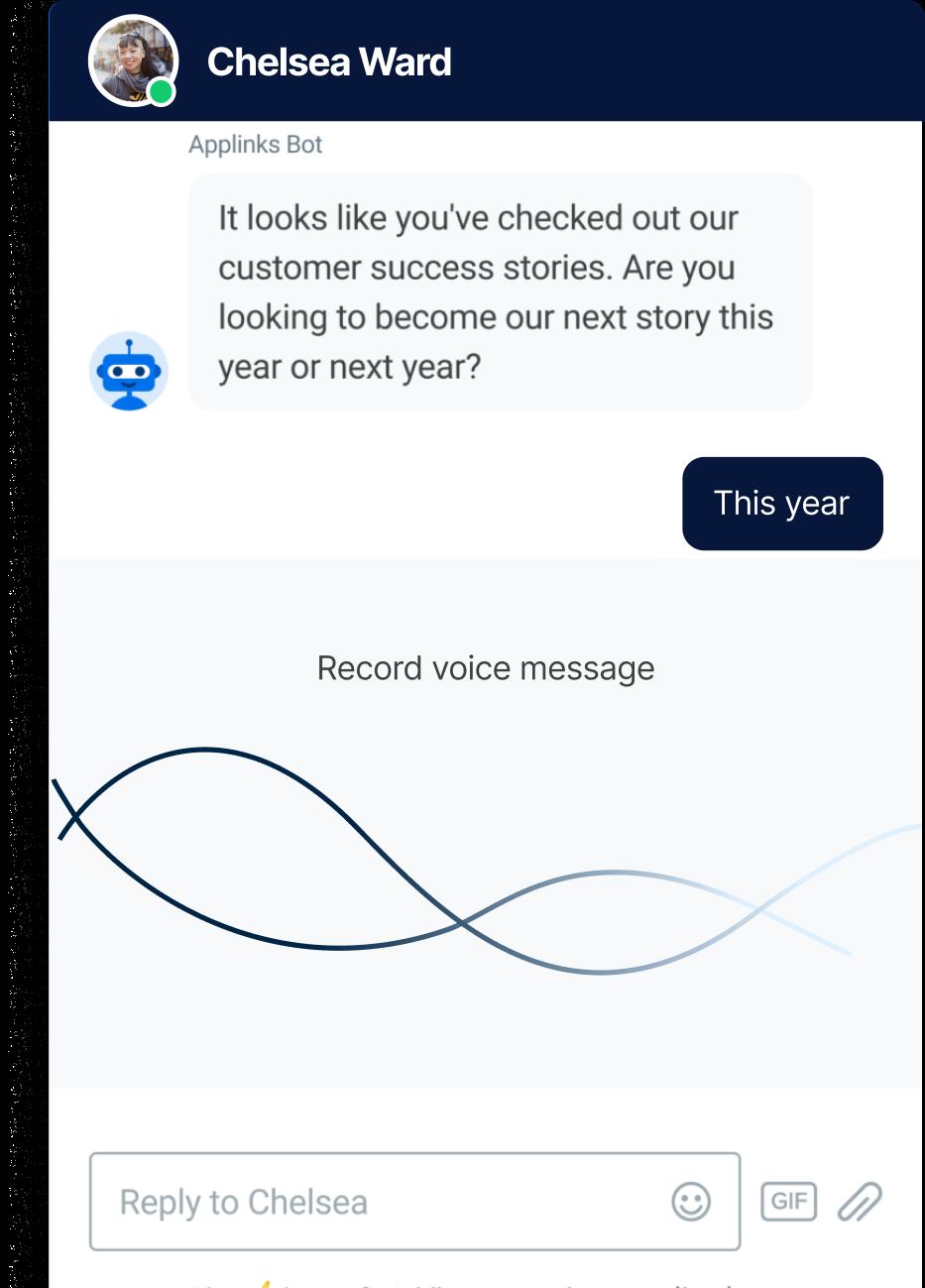 Chatbot development text message
