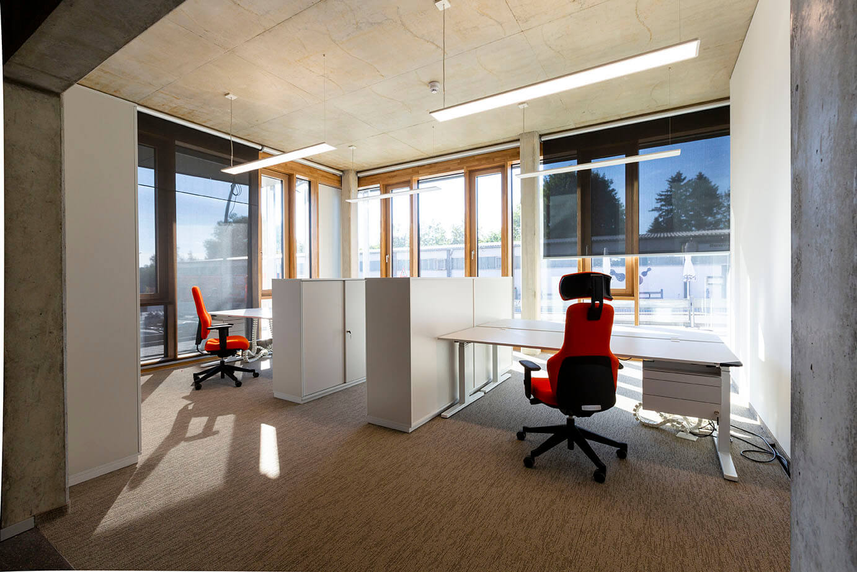 Büroraum AS-Bau Hof Gebäude
