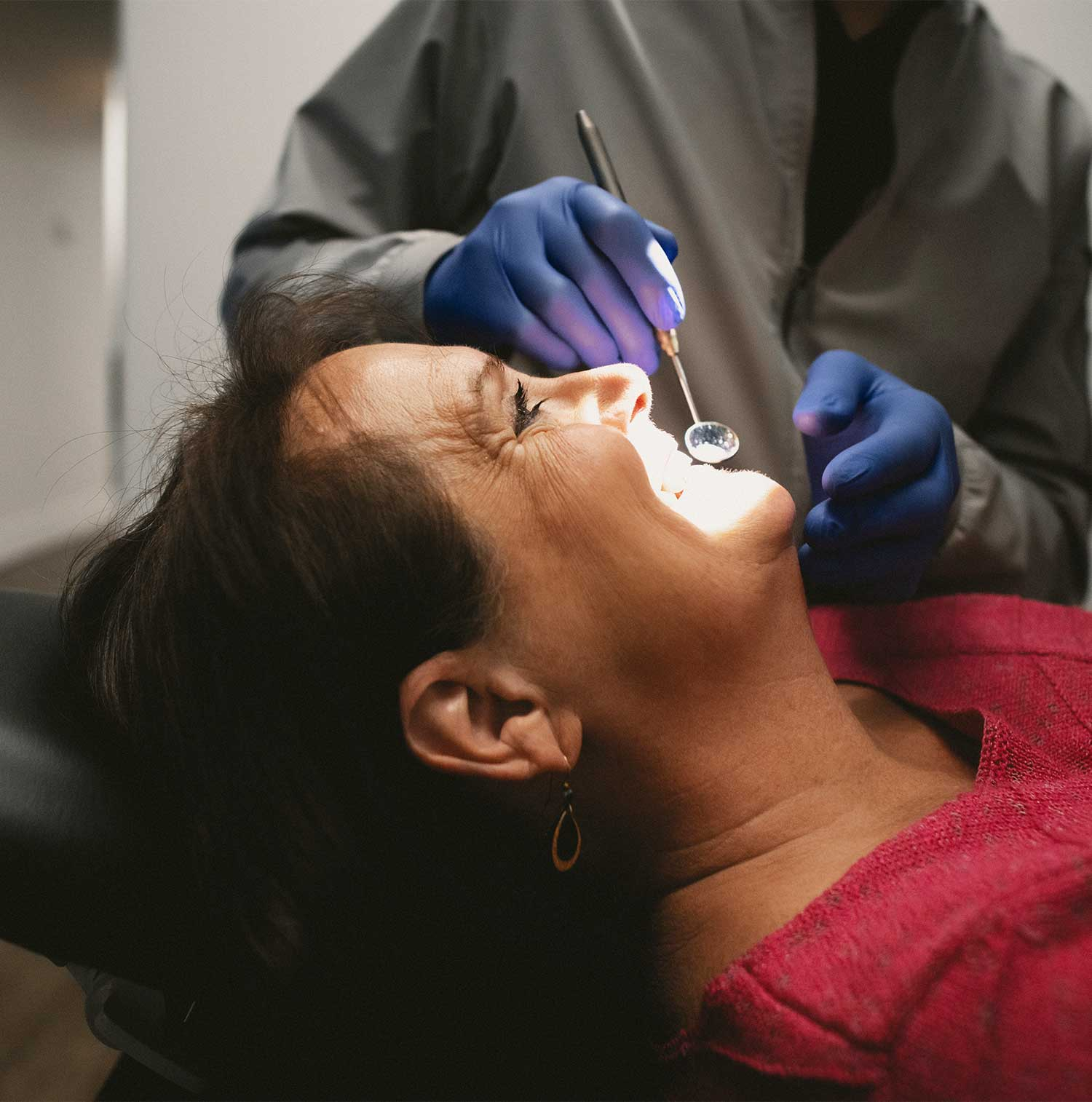 Photo of a patient receiving care
