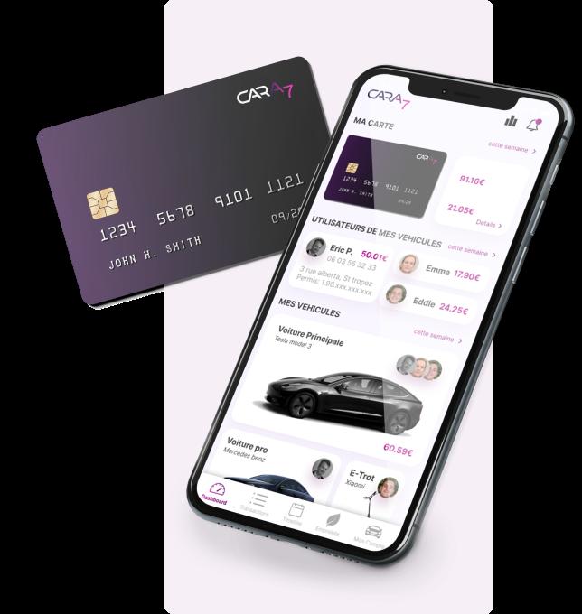 The Cara7 banking card and Cara7 mobile app