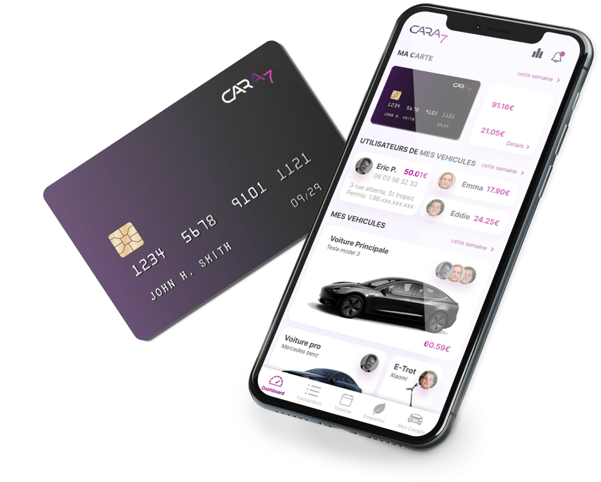 the cara7 app and banking card