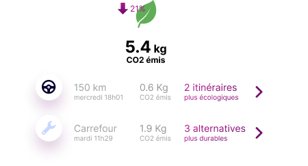 Overview carbon footprint