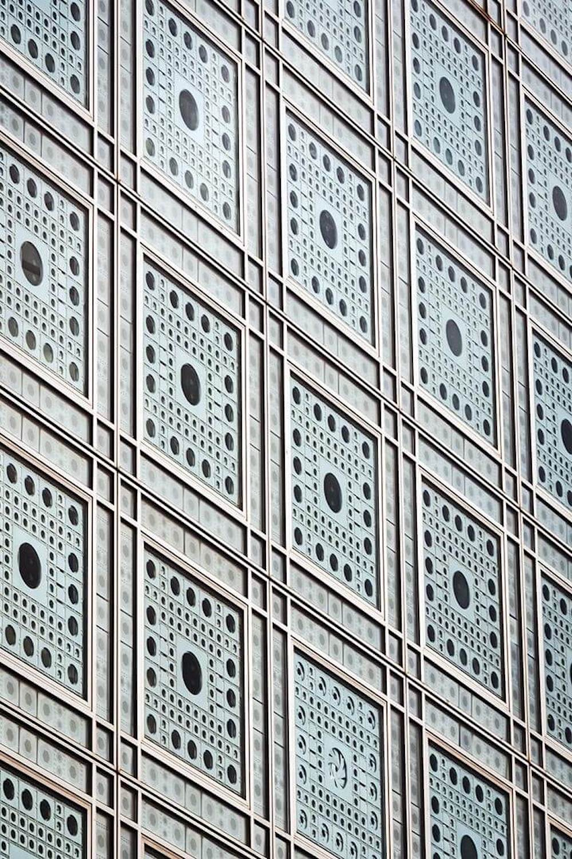 Decorative details on a Gothic facade in Paris.