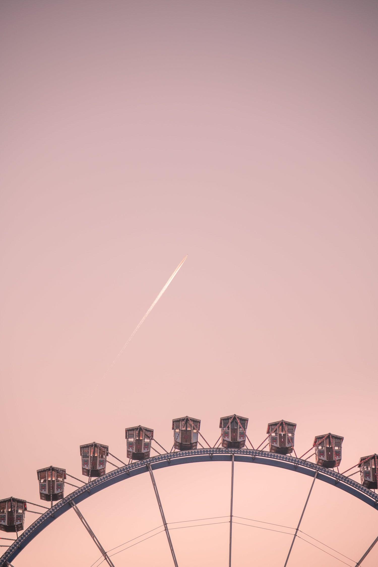 Fair Ferris Wheel, sunset in Berlin