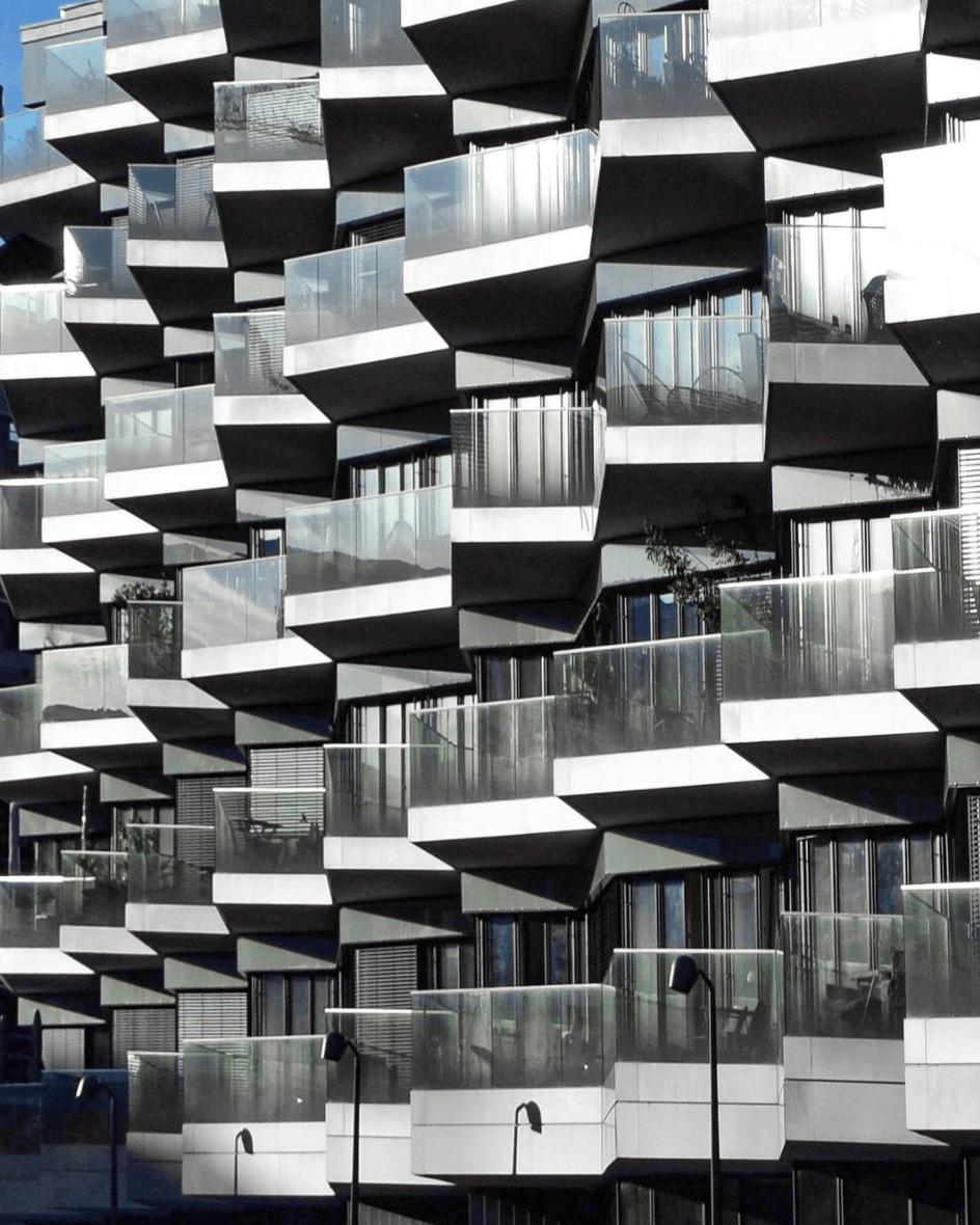 Exterior architecture, balconies