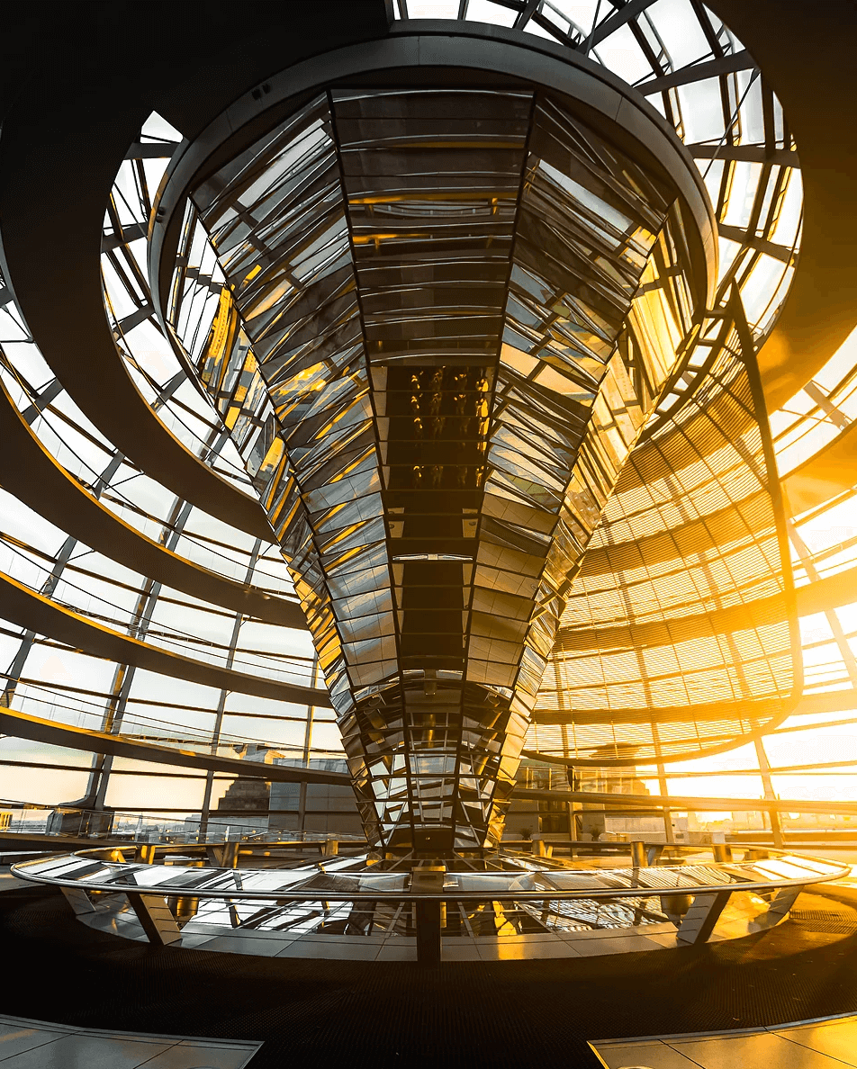 Reichstag Berlin, interior architecture, modernist architecture design