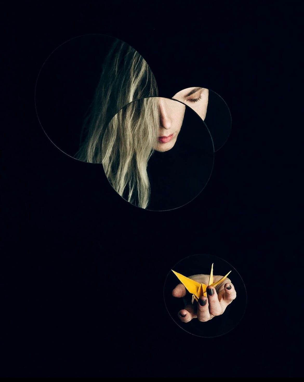 """Self portrait by Irina Pasin, winner of the """"Creative Quarantine"""" photography contest hosted in partnership with Fotomagazin."""