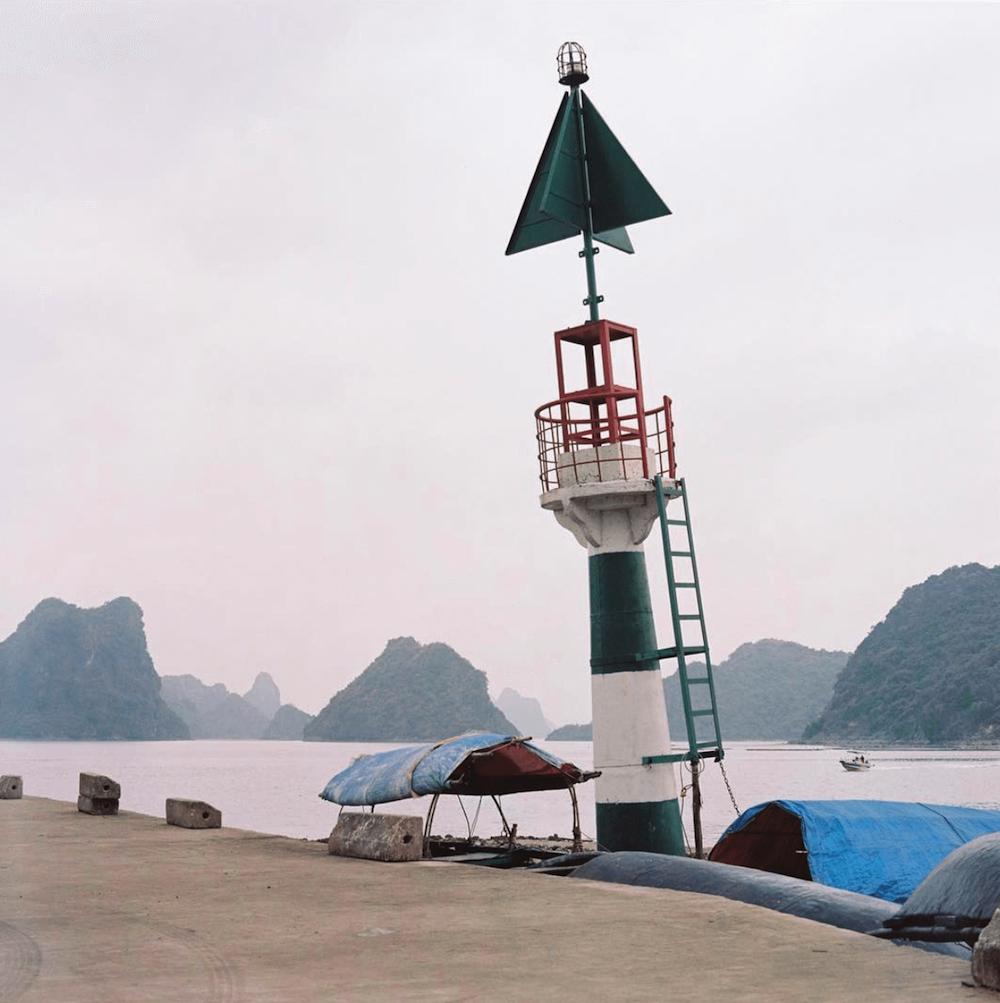 A buoy in Vietnam harbour.