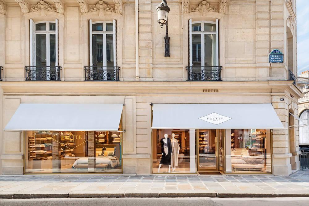 Frette shop in a Parisian street.
