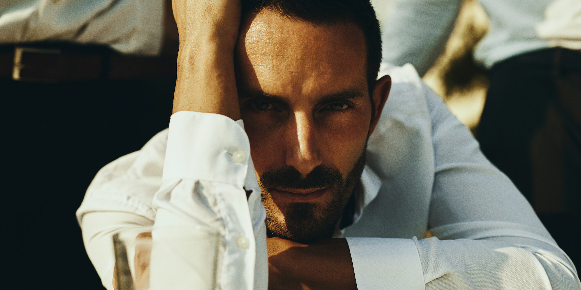 Portrait Series of Daniel Cati, color portrait of man in white shirt