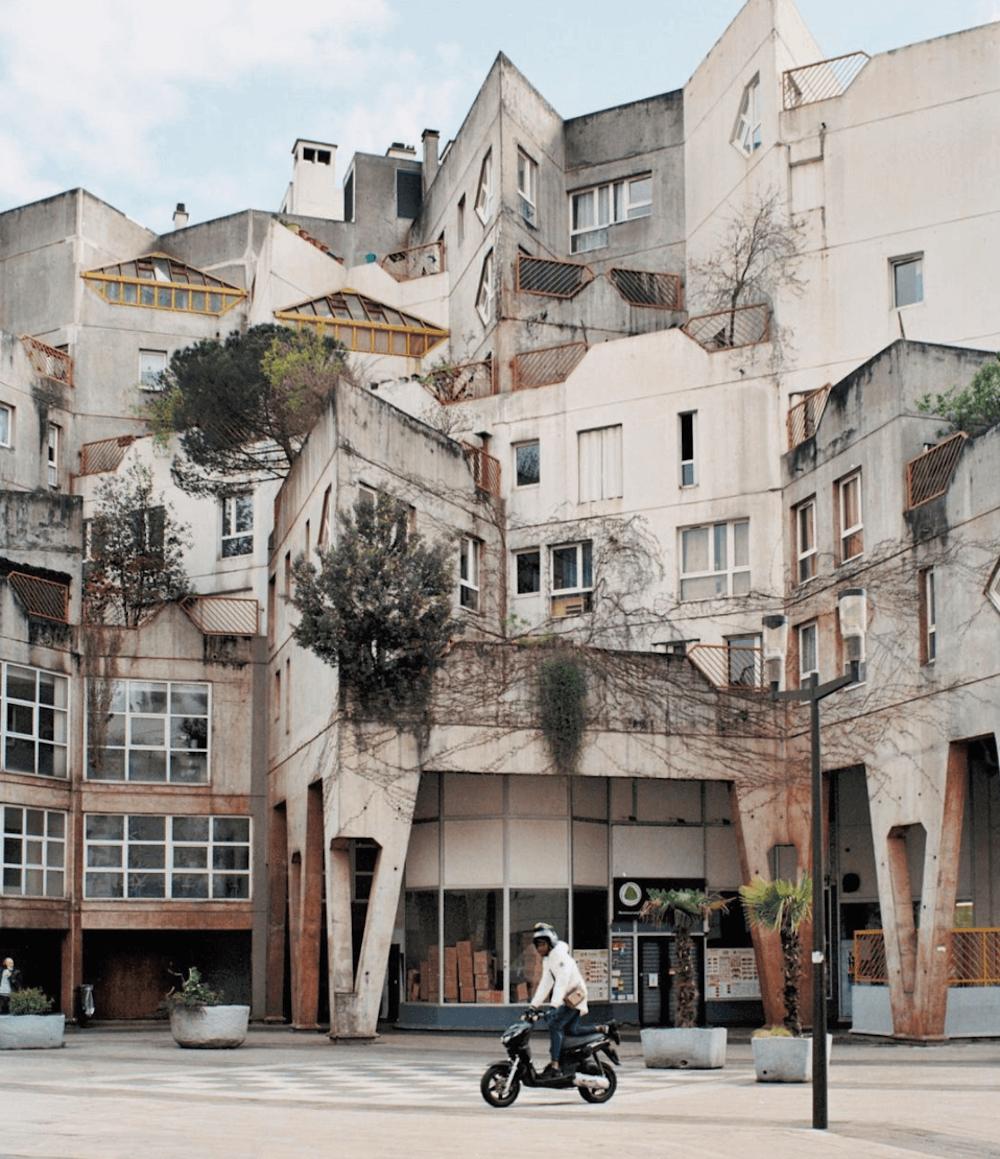 Geometric building in Vietnam.