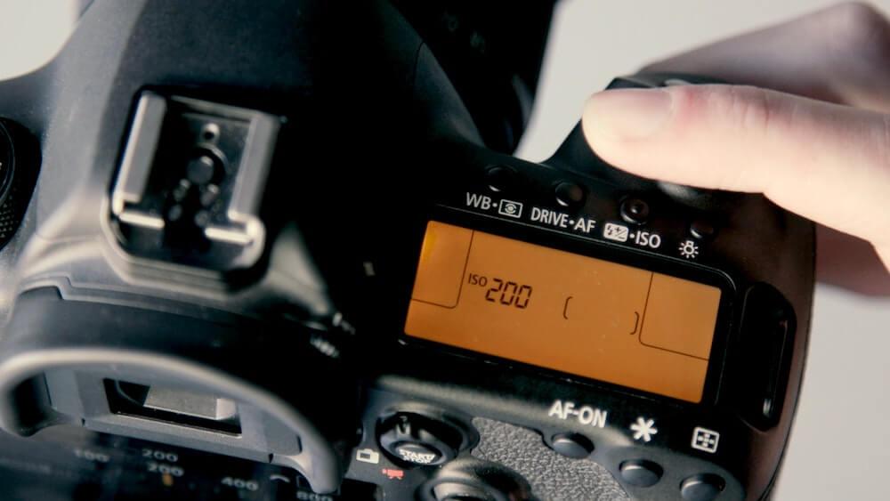 Canon 5D mark IV rental close up settings screen